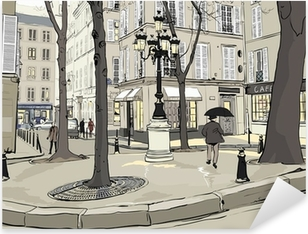 Vinilo Pixerstick Furstemberg plaza en paris