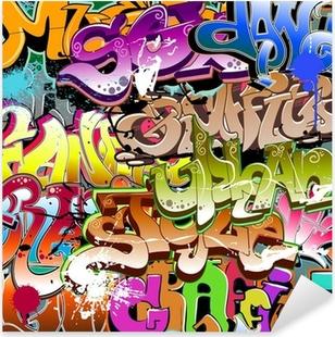 Vinilo Pixerstick Graffiti seamless background. Textura Arte urbano