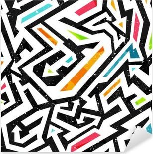 Vinilo Pixerstick Graffiti - seamless pattern