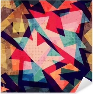 Vinilo Pixerstick Grunge sin fisuras patrón geométrico
