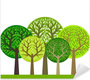 Vinilo Pixerstick Grupo de árboles