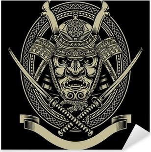 Vinilo Pixerstick Guerrero del samurai con la espada del katana