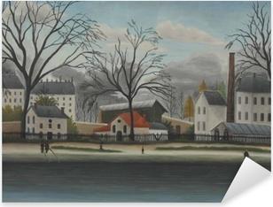 Vinilo Pixerstick Henri Rousseau - Escena suburbana