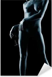 Vinilo Pixerstick Hermosa mujer desnuda