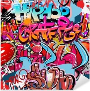Vinilo Pixerstick Hip hop de fondo de graffiti arte urbano