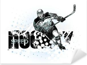 Vinilo Pixerstick Hockey sobre hielo 2