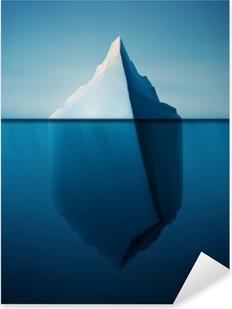 Vinilo Pixerstick Iceberg solitario