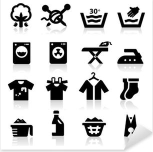 Vinilo Pixerstick Icono de lavandería