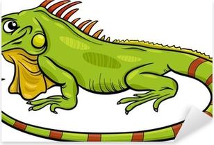 Póster Iguana Ilustración De Dibujos Animados De Animales Pixers