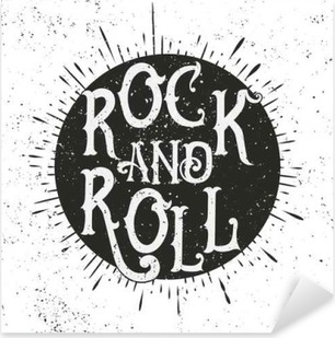 Vinilo Pixerstick Impresión de la música rock
