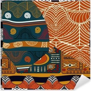 Vinilo Pixerstick Indian ilustración pattern.Vector transparente de color