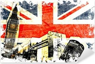 Vinilo Pixerstick Inglés bandera decoupe