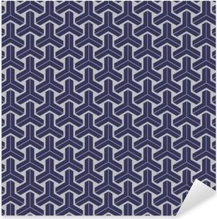 Vinilo Pixerstick Japonesa geométrica patrón sin fisuras diseño de la textura