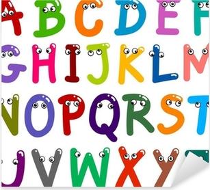 Vinilo Pixerstick Las letras mayúsculas Alfabeto divertido