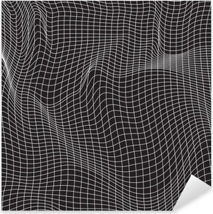 Vinilo Pixerstick Las líneas blancas, composición abstracción, montañas, vector de diseño de fondo