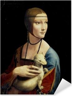 Vinilo Pixerstick Leonardo da Vinci - Señora con un armiño