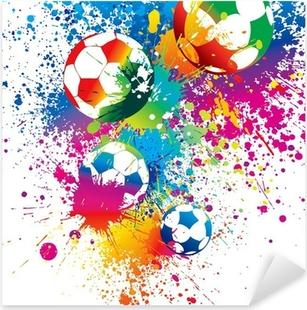 Vinilo Pixerstick Los balones de colores sobre un fondo blanco
