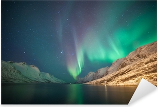 Vinilo Pixerstick Luces del Norte, Ersfjordbotn, Tromsø, Noruega