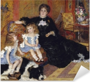 Vinilo Pixerstick Madame Georges Charpentier and Her Children, Georgette-Berthe and Paul-Émile-Charles
