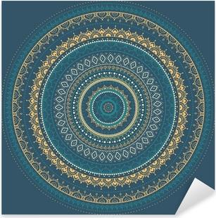 Vinilo Pixerstick Mandala. Patrón decorativo indio.