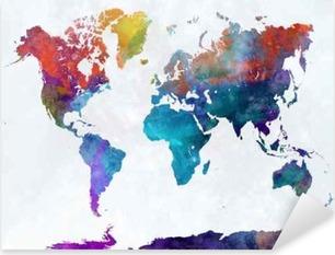 Vinilos mapas del mundo para ni os pixers vivimos for Vinilo mapa del mundo