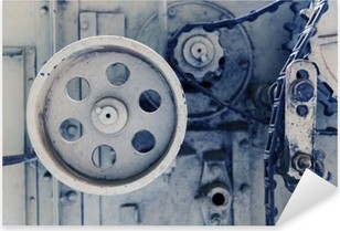 Vinilo Pixerstick Mecanismo de la máquina de la vendimia en la fábrica