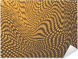 Vinilo Pixerstick Medias efecto deformado en protuberancias y las olas. La piel del reptil parecido. fondo del vector
