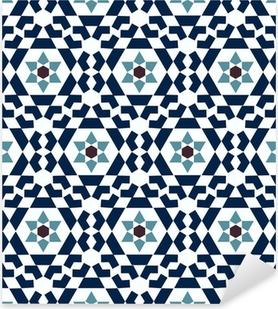 Vinilo Pixerstick Modelo geométrico islámico sin fisuras