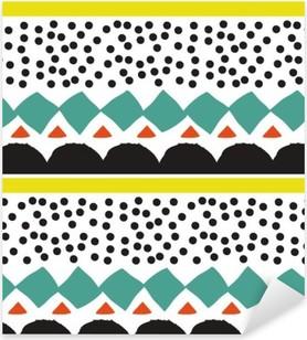 Vinilo Pixerstick Modelo inconsútil con los elementos geométricos gráficos
