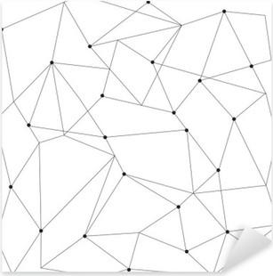Vinilo Pixerstick Modernos patrón transparente geométrica escandinavo