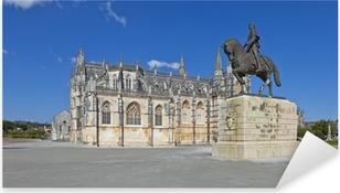 Vinilo Pixerstick Monasterio de Batalha y Nuno Alvares Pereira estatua
