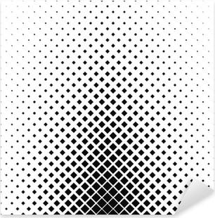 Vinilo Pixerstick Monocromo patrón cuadrado del diseño del fondo