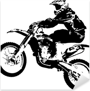 Vinilo Pixerstick Motocross puente