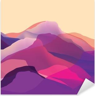 Vinilo Pixerstick Mountians de color, ondas, superficie abstracta, fondo moderno, de diseño vectorial Ilustración para su proyecto