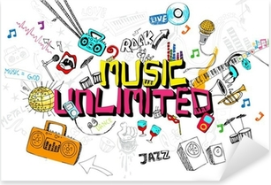 Vinilo Pixerstick Music Unlimited