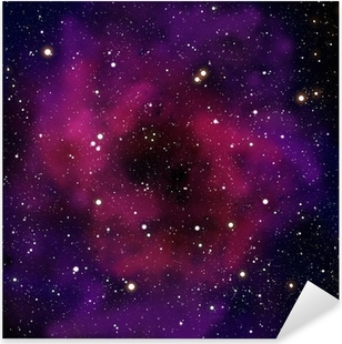 Vinilo Pixerstick Nebulosa y estrella en el área espacial