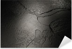Vinilo Pixerstick Negro textura de fondo de piedra.