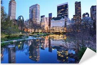 Vinilo Pixerstick New York City Central Park Lake