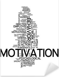 """Vinilo Pixerstick Nube de la palabra """"motivación"""""""