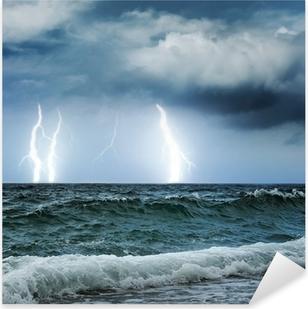 Vinilo Pixerstick Océano tormenta