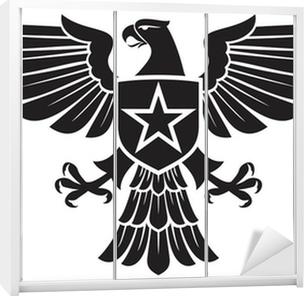 Vinilo para Armario Águila y la estrella escudo de armas