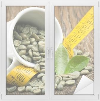 cafe verde para estilizarse ventana