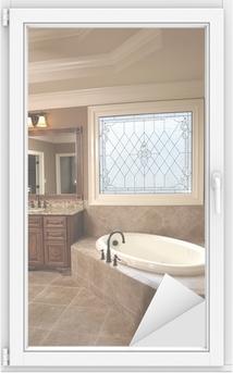 Cuarto de baño de lujo con Stained Glass
