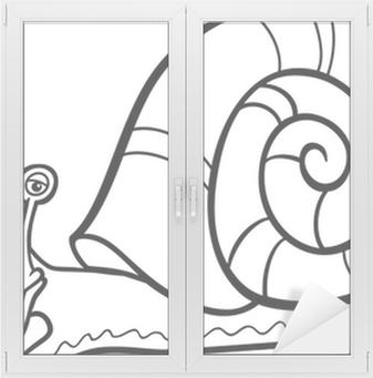 Vinilo Para Cristal Y Ventana Colorear Dibujos Animados Lombriz