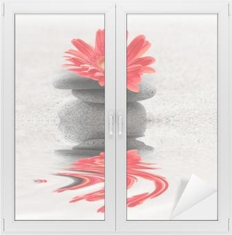 Vinilo para Cristal y Ventana Galets et reflet gerbera zen