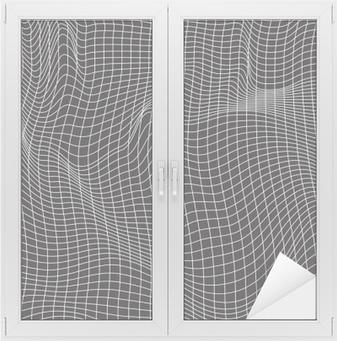 Vinilo para Cristal y Ventana Las líneas blancas, composición abstracción, montañas, vector de diseño de fondo