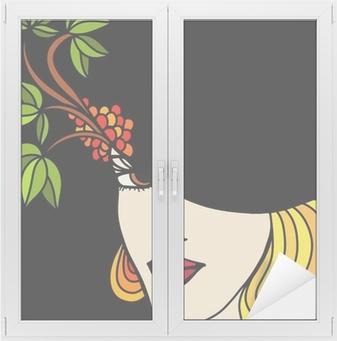 Vinilo Pixerstick Mujer con sombrero sobre un fondo negro • Pixers® -  Vivimos para cambiar f200f964495