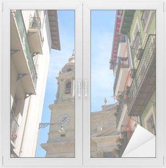 Vinilo para Cristal y Ventana Vista de Pampllona.Navarre.Spain