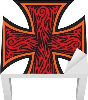 Vinilo Pixerstick Cruz De Malta Pixers Vivimos Para Cambiar