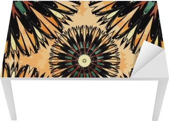 Vinilo para Mesa y Escritorio Colorido oriental ornamento ilustración vectorial sin patrón